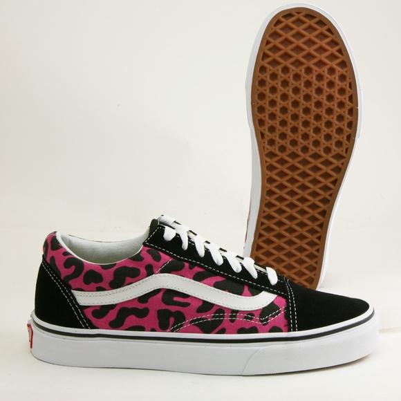 47bf621ea2 Vans Old Skool Pink Leopard Unisex Skate Shoe